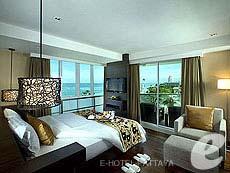 パタヤ ノースパタヤのホテル : エー ワン パタヤ ホテル(1)のお部屋「オーシャン ビュー デラックス(ツイン)」