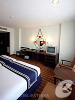 パタヤ ノースパタヤのホテル : エーワン ザ ロイヤル クルーズ ホテル(A-One The Royal Cruise Hotel)のスーペリア / ニューウイングルームの設備 Bedroom