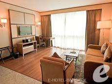 バンコク カップル&ハネムーンのホテル : アデルフィ スイーツ(Adelphi Suites)のお部屋「エグゼクティブ ワンベッドルーム」