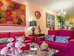 プーケット ファミリー&グループのホテル : アルマリ レジデンス ヴィラ マリ(Almali Residence Villa Mali)の2ベッドルームルームの設備 Living Room