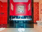 プーケット ファミリー&グループのホテル : アルマリ レジデンス ヴィラ マリ(Almali Residence Villa Mali)の2ベッドルームルームの設備 Bathroom