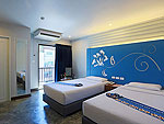 プーケット 5,000円以下のホテル : デイズ イン パトンビーチ(Days inn Patong Beach)のデラックス ツインルームの設備 Bedroom