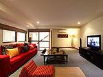 サムイ島 チョンモーンビーチのホテル : アルファ ヴィラ(Alpha Villa)の3ベッドルームルームの設備 Living Room