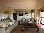 サムイ島 チョンモーンビーチのホテル : アルファ ヴィラ(Alpha Villa)の4ベッドルームルームの設備 Living Room