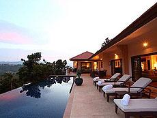 サムイ島 チョンモーンビーチのホテル : アルファ ヴィラ(1)のお部屋「4ベッドルーム」