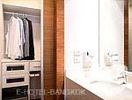 バンコク ラチャダピセーク通りのホテル : アマンタ ラチャダ サービス アパートメント(Amanta Hotel & Residence Ratchada)の1ベッドルーム デラックス スイート シティ ビュールームの設備 Bath Room