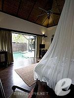 プーケット インターネット接続(無料)のホテル : アナンタラ マイカオ プーケット ビラ(Anantara Mai Khao Phuket Villas)のプールヴィラルームの設備 Bedroom