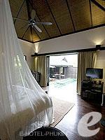 プーケット スパ併設のホテル : アナンタラ プーケット ビラ(Anantara Phuket Villas)のプールヴィラルームの設備 Bedroom