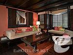 プーケット スパ併設のホテル : アナンタラ プーケット ビラ(Anantara Phuket Villas)の2 ベッドルーム ロイヤル ヴィラルームの設備 Living Room