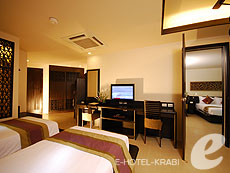 クラビ プールアクセスのホテル : アンヤウィー タプケーク ビーチ リゾート(1)のお部屋「デラック スシービュー」