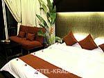 クラビ インターネット接続(無料)のホテル : アオナン パラダイス リゾート(Aonang Paradise Resort)のデラックス プレミア クリフ ビュールームの設備 Bedroom