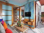 プーケット 会議室ありのホテル : アプサラ ビーチフロント リゾート & ヴィラ(Apsara Beachfront Resort & Villa)のハネムーン スイートルームの設備 Living Room