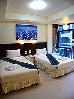 プーケット ロングステイのホテル : @ ホワイト パトン ブティック ホテル  (@White Patong Boutique Hotel)のデラックスルームの設備 Bedroom