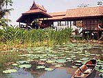 バンコク アユタヤのホテル : アユタヤ ガーデン リバー ホーム 「Pond」