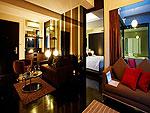 プーケット ファミリー&グループのホテル : B レイ トン プーケット(B-Lay Tong Phuket)のプレミアム ジャグジー スイートルームの設備 Room View