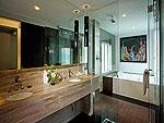 プーケット ファミリー&グループのホテル : B レイ トン プーケット(B-Lay Tong Phuket)のプレミアム ジャグジー スイートルームの設備 Bath Room