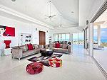 サムイ島 チョンモーンビーチのホテル : バーン ボー カオ(Baan Bon Khao)の3ベッドルームルームの設備 Living Room