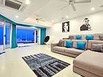 サムイ島 チョンモーンビーチのホテル : バーン ボー カオ(Baan Bon Khao)の5ベッドルームルームの設備 Living Room