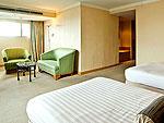 バンコク サイアム・プラトゥーナムのホテル : バイヨーク スカイ ホテル(Baiyoke Sky Hotel)のジュニア スイート ツイン(スカイゾーン)ルームの設備 Room View