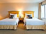 バンコク サイアム・プラトゥーナムのホテル : バイヨーク スカイ ホテル(Baiyoke Sky Hotel)のデラックス シングル(スペースゾーン)ルームの設備 Room View