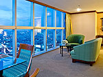 バンコク サイアム・プラトゥーナムのホテル : バイヨーク スカイ ホテル(Baiyoke Sky Hotel)のスーペリア スイート シングル (スペースゾーン)ルームの設備 Room View