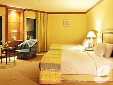 バンコク サイアム・プラトゥーナムのホテル : バイヨーク スカイ ホテル(Baiyoke Sky Hotel)のお部屋「デラックス ツイン (スカイゾーン)」