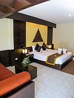サムイ島 チャウエンビーチのホテル : バナナ ファン シー リゾート(Banana Fan Sea Resort)のスーペリアルームの設備 Bedroom