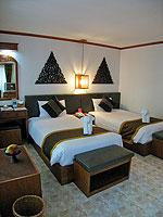 サムイ島 チャウエンビーチのホテル : バナナ ファン シー リゾート(Banana Fan Sea Resort)のデラックスルームの設備 Bedroom