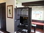 サムイ島 チャウエンビーチのホテル : バナナ ファン シー リゾート(Banana Fan Sea Resort)のプールビュー バンガロールームの設備 TV