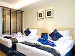 バンコク 王宮・カオサン周辺のホテル : バンコク センター ホテル(Bangkok Centre Hotel)のスーパー デラックス ダブル(ルームオンリー)ルームの設備 Bedroom