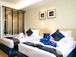バンコク 王宮・カオサン周辺のホテル : バンコク センター ホテル(Bangkok Centre Hotel)のスーパー デラックス シングル(ロームオンリー)ルームの設備 Bedroom