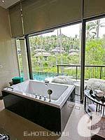 サムイ島 オーシャンビューのホテル : バンヤン ツリー サムイ(Banyan Tree Samui)のデラックス プールヴィラルームの設備 Bathroom