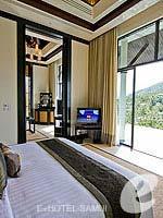 サムイ島 オーシャンビューのホテル : バンヤン ツリー サムイ(Banyan Tree Samui)のサンクチュアリ プール ヴィラ(2ベッドルーム)ルームの設備 Bedroom