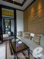 サムイ島 フィットネスありのホテル : バンヤン ツリー サムイ(Banyan Tree Samui)のサンクチュアリ プール ヴィラ(2ベッドルーム)ルームの設備 Living Room