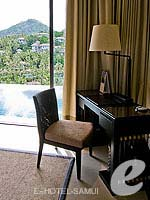 サムイ島 オーシャンビューのホテル : バンヤン ツリー サムイ(Banyan Tree Samui)のサンクチュアリ プール ヴィラ(2ベッドルーム)ルームの設備 Writing Desk