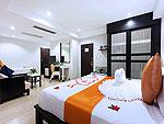 プーケット パトンビーチのホテル : バラミー リゾテル(Baramee Resortel)のデラックスルームの設備 Bedroom