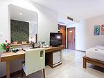 プーケット パトンビーチのホテル : バラミー リゾテル(Baramee Resortel)のデラックス プレミアムルームの設備 Bedroom