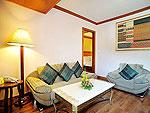 プーケット ファミリー&グループのホテル : バウマンブリ(Baumanburi)のプレミア スイートルームの設備 Living Room