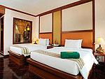 プーケット ファミリー&グループのホテル : バウマンブリ(Baumanburi)のグランド デラックス(ツイン/ダブル)ルームの設備 Bedroom