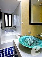 サムイ島 チョンモーンビーチのホテル : ブンダリ スパ リゾート & ヴィラ サムイ(Bhundhari Spa Resort and Villas Samui)のデラックスルームの設備 Bathroom