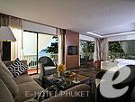 プーケット カタビーチのホテル : ボートハウス(Boathouse)のビーチフロント スイートルームの設備 Living Area