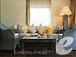 プーケット カタビーチのホテル : ボートハウス(Boathouse)のビーチフロント スイートルームの設備 Sofa