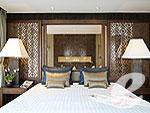 プーケット カタビーチのホテル : ボートハウス(Boathouse)のハイダウェイ シービュー スイートルームの設備 Bedroom