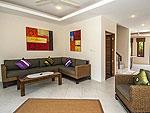 サムイ島 レンタルヴィラのホテル : ボー クン ヴィラ(Boh Khung Villa)の2ベッドルームルームの設備 Living Room