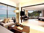プーケット スパ併設のホテル : ケープ パンワ ホテル(Cape Panwa Hotel)のケープ シグネチャールームの設備 Living Room
