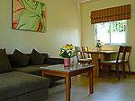 パタヤ ジョムティエンビーチのホテル : カジュアリーナ ジョムティエン ホテル(Casuarina Jomtien Beach Hotel)のジュニア スイートルームの設備 Living Room