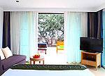 パタヤ ジョムティエンビーチのホテル : カジュアリーナ ジョムティエン ホテル(Casuarina Jomtien Beach Hotel)のビーチフロント スイートルームの設備 Bedroom