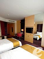 バンコク ファミリー&グループのホテル : センタラ グランド アット セントラルワールド(Centara Grand at Central World)のデラックス ワールドルームの設備 Bedroom
