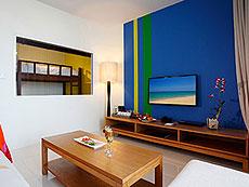 プーケット インターネット接続(無料)のホテル : グランド ウエストサンド リゾート & ビラ プーケット(1)のお部屋「デラックス ファミリー レジデンス」