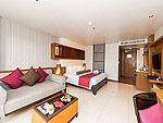 プーケット カップル&ハネムーンのホテル : アシュリー ハブ ホテル パトン(Ashlee Hub Hotel Patong)のデラックスルームルームの設備 Bedroom